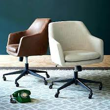 upholstered desk chair with wheels stylish and comfortable