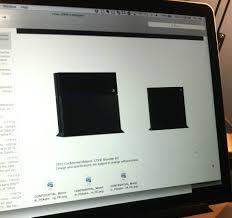 playstation 4 design alleged designs for slim playstation 4 console leak