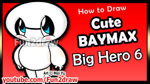 how to draw thanksgiving cute baymax big hero 6 how to draw disney cartoon characters