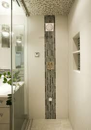 Modern Bathroom Ceiling Trim Shower Doors Round Stainless Steel Showerhead Chrome Rainfall Hand