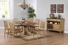 sunset trading 7pc brookside pedestal dining set with brookdale