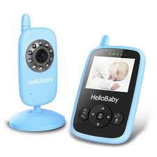babyphone für 2 kinderzimmer hellobaby hb24 2 4 digital funk tft lcd drahtlos babyphone