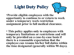 what is light duty work charming light duty work restrictions f79 on stylish image