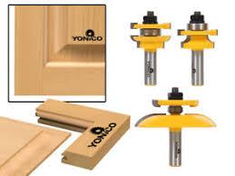 Router Bits For Cabinet Doors 3 Bit Cabinet Door Router Bit Set 1 2 Shank Yonico