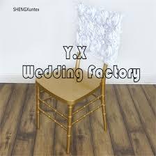 Cheap Wedding Chair Covers Wholesale Price Satin Rosette Chiavari Chair Hood Hood Cheap