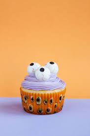 marker sketch of happy halloween cupcake isolated stock easy