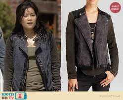 Rugged Clothes Wornontv Happy U0027s Two Tone Leather Trim Jacket On Scorpion Jadyn