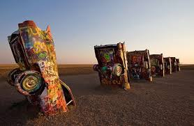 cadillac ranch indianapolis in the top 10 icons of route 66 are route 66
