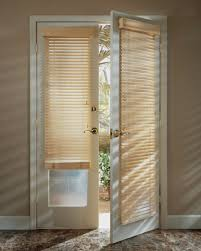 exterior door with window blinds ideal treatment for exterior