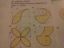 formel fl che kreis mathematik 9 klasse umfang und flächeninhalt der gefärbten fläche