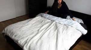 the duvet burrito how to put a duvet cover on your comforter the