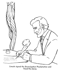 lincoln coloring pages usa printables the emancipation proclamation america civil war