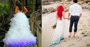 dip dye wedding dress gorgeous dip dye wedding dresses