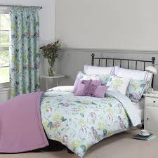 evelyn duckegg floral printed luxury cotton duvet cover julian