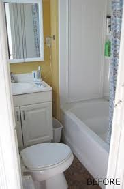 Tiny Bathroom Before After A Tiny Bathroom Remodel Apartment Therapy