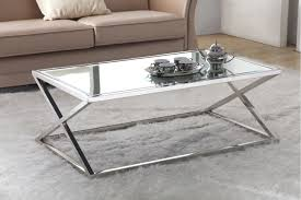 Steel And Glass Coffee Table Features X Coffee Table Has A Stainless Steel Base And