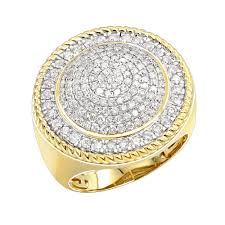 large diamond rings images Unique 10k gold 2 carat large diamond ring for men round shape by jpg