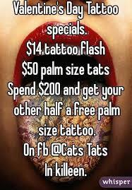 day tattoo specials 14 tattoo flash 50 palm size tats spend