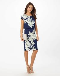 print dress nanette print dress navy phase eight