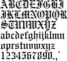 gang tattoos 13 script font letter b