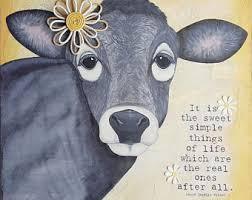 Cow Decor Cow Art Print Etsy