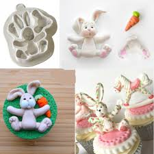 easter bunny cake mold aliexpress buy sugar buttons rabbit easter bunny silicone
