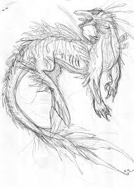 sea monster sketch by aquavarin on deviantart