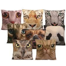 3d animal cat dog tiger face throw pillow case sofa office car 3d animal cat dog tiger face throw pillow case sofa office car cushion cover home decor