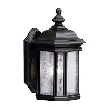 shop kichler kirkwood 13 in h black outdoor wall light at lowes com
