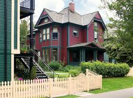 A Frame House Cost How Much To Paint A House With Red Wall Paint With Blue Accent