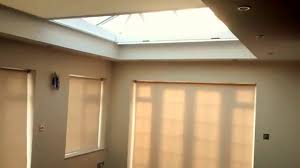 electric roller and roof lantern zip blinds premier blinds