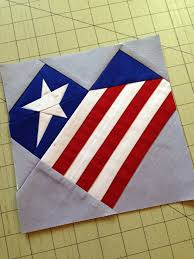 How To Sew A Flag Paper Pieced Patriotic Heart