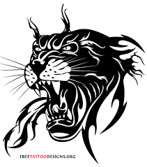 attractive black tribal panther design