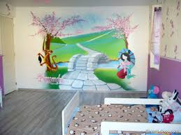 dessin mural chambre fille dessin chambre bebe on decoration d interieur moderne decoration