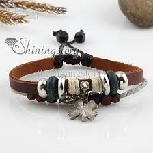 leather bracelet with charms images 2018 mens leather bracelet charms bracelets handmade jewelry cheap jpg