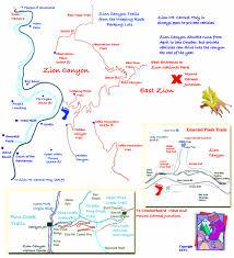 map of zion national park zion national park trails map zion national park mappery