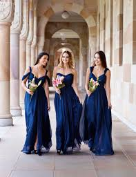 navy blue bridesmaids dresses 3 styles a b c cheap bridesmaid dress navy blue ivory