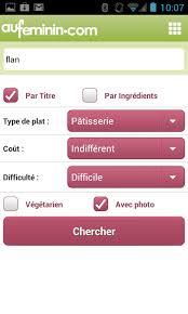 aufeminin cuisine cuisine aufeminin pour android télécharger