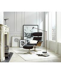 Swivel Chair And Ottoman Annaldo Leather Swivel Chair Ottoman Collection Furniture Macy S