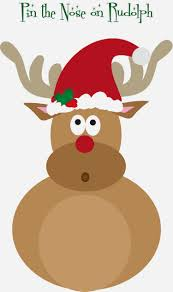 free pin the nose on rudolph printable ho ho ho pinterest