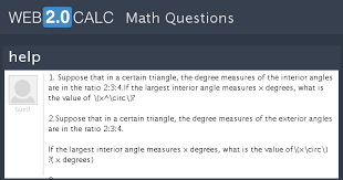 Measures Of Interior Angles View Question Help