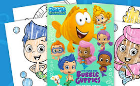 free bubble guppies coloring book maven savin