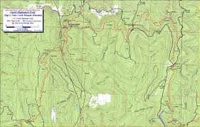 Ozarks Map Oht Trail Description Lake Fort Smith To Cherry Bend