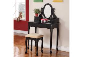 bedroom black vanity table for elegant bedroom furniture design