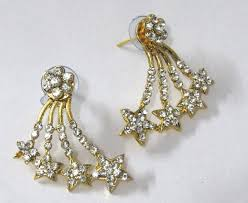 kaan earrings buy golden shape kaan earring online