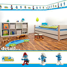 Wall Borders Smurfs Decor For Baby Room Details About Smurfs Self Adhesive