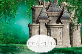 castle backdrop photography backdrop castle in the woods