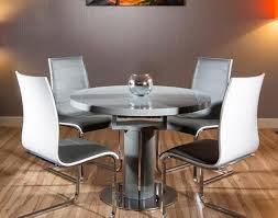 table stunning white oval extending dining table including round