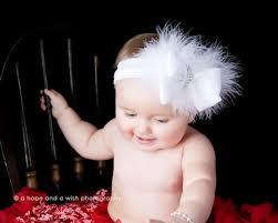 baby headband white beauty satin feathers baby headband white hair