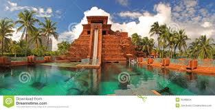 Atlantis Bahamas by Leap Of Faith Waterslide At Atlantis Resort Bahamas Editorial